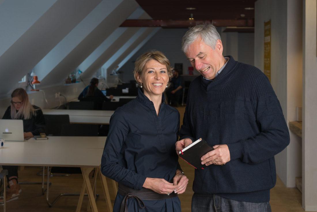 Franziska Vonaesch und Peter Belart von der Agentur Businessmind GmbH