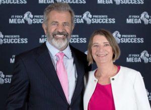 Mel Gibson und Eva-Maria Müller